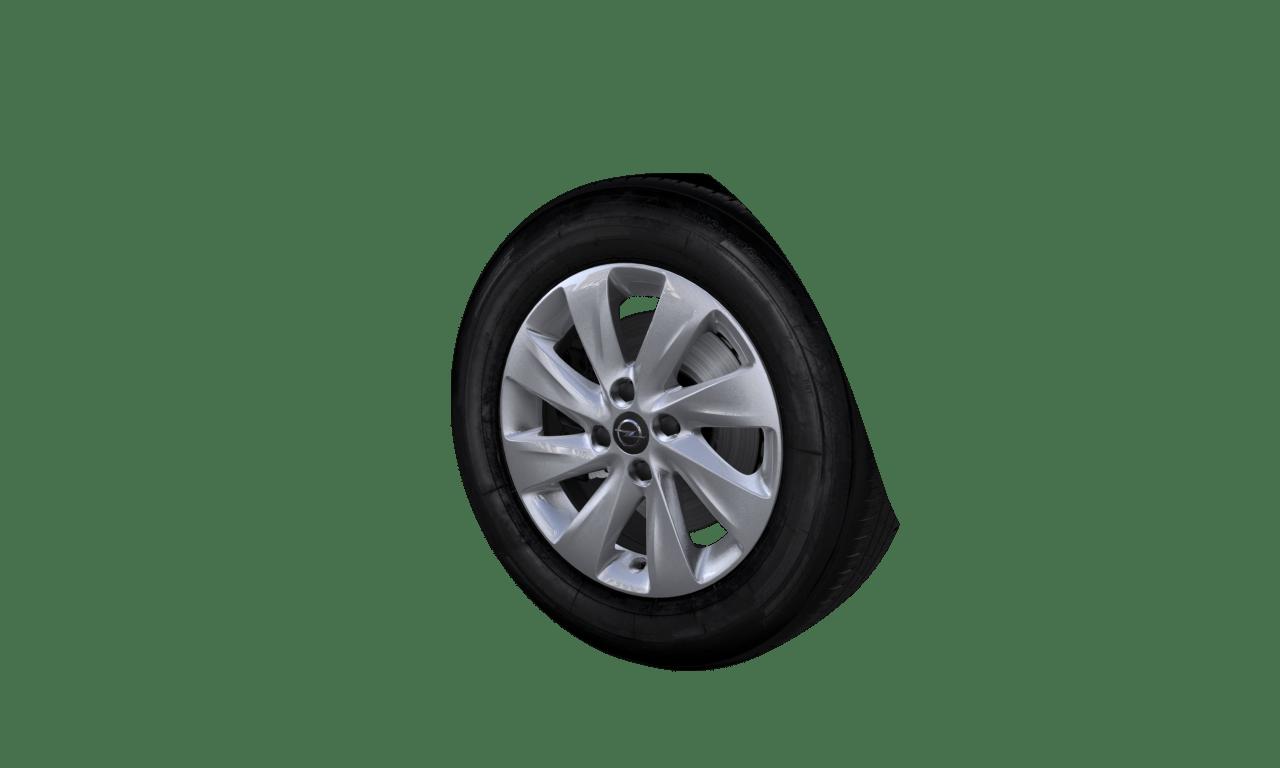 "6.0J x 15 ""Turbinen""-Design, Silber"