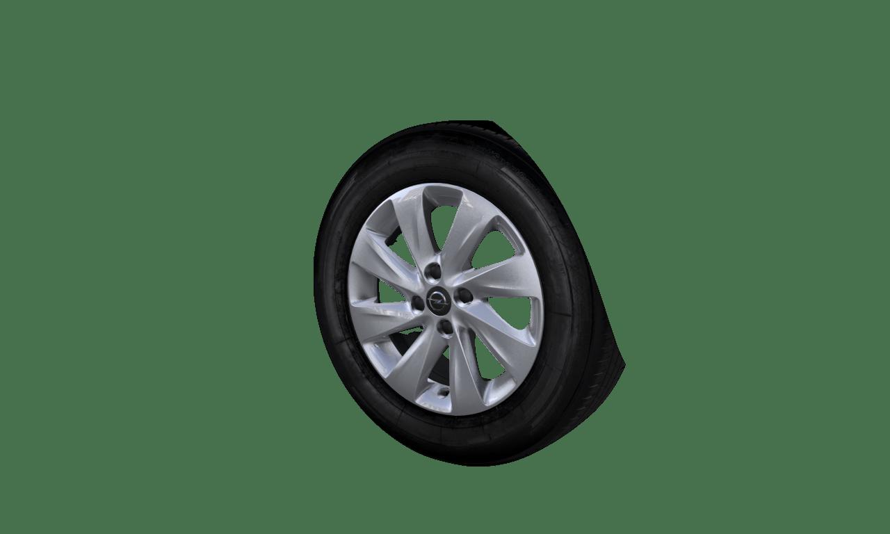 """6.0J x 15 """"8-Speichen Rotor""""-Design, Silber"""