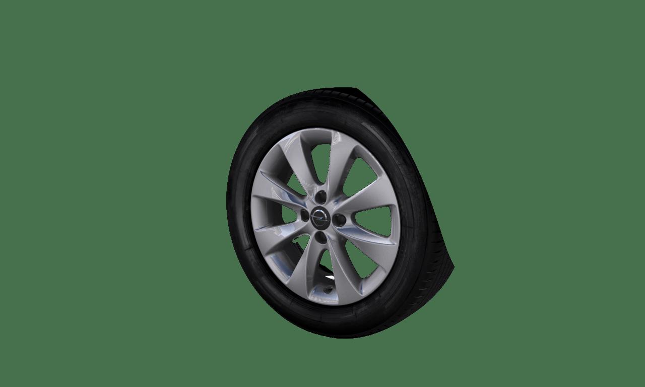 """6.0J x 16 """"8-Speichen Rotor""""-Design, Silber"""