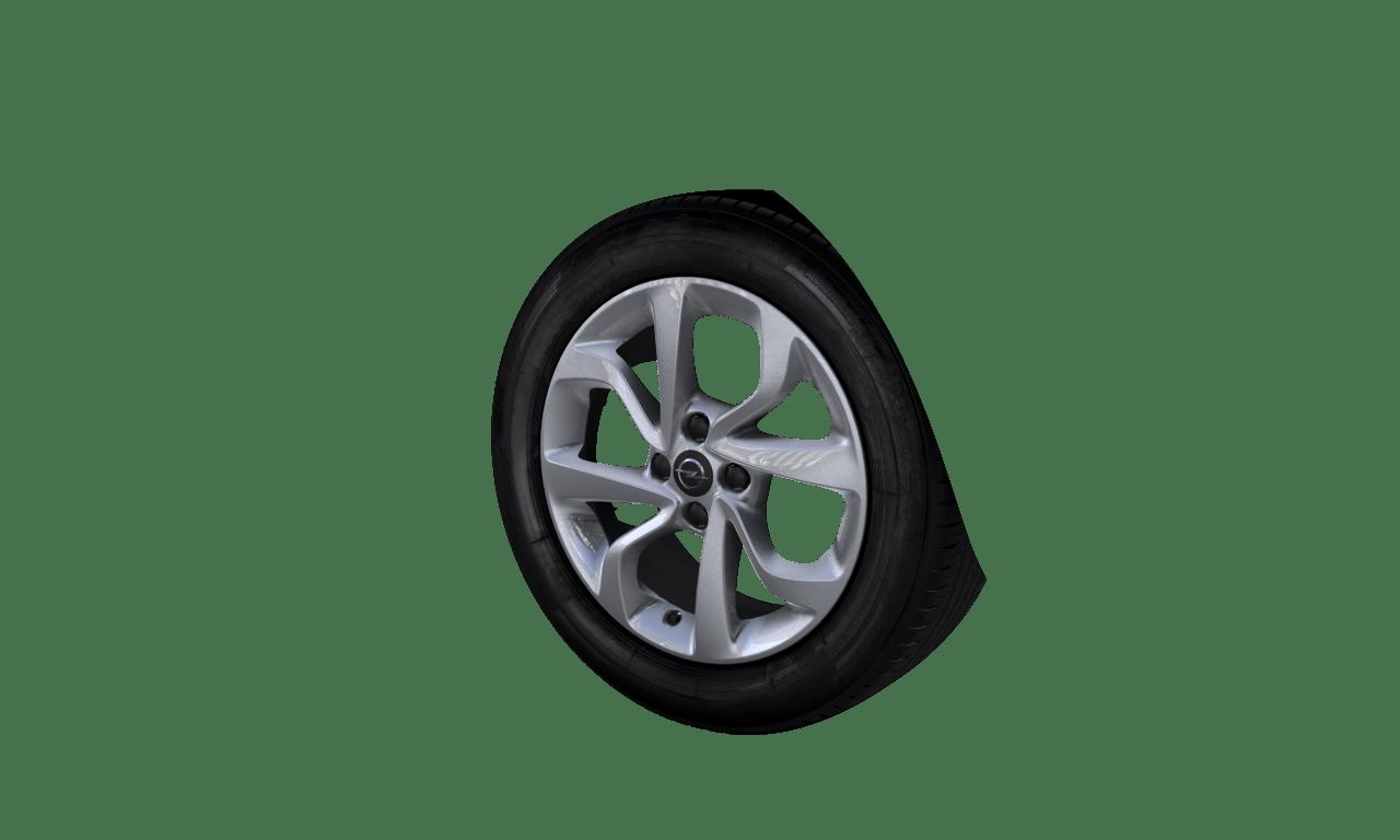 """6.5J x 16 """"4-Doppelspeichen""""-Design, Silber"""