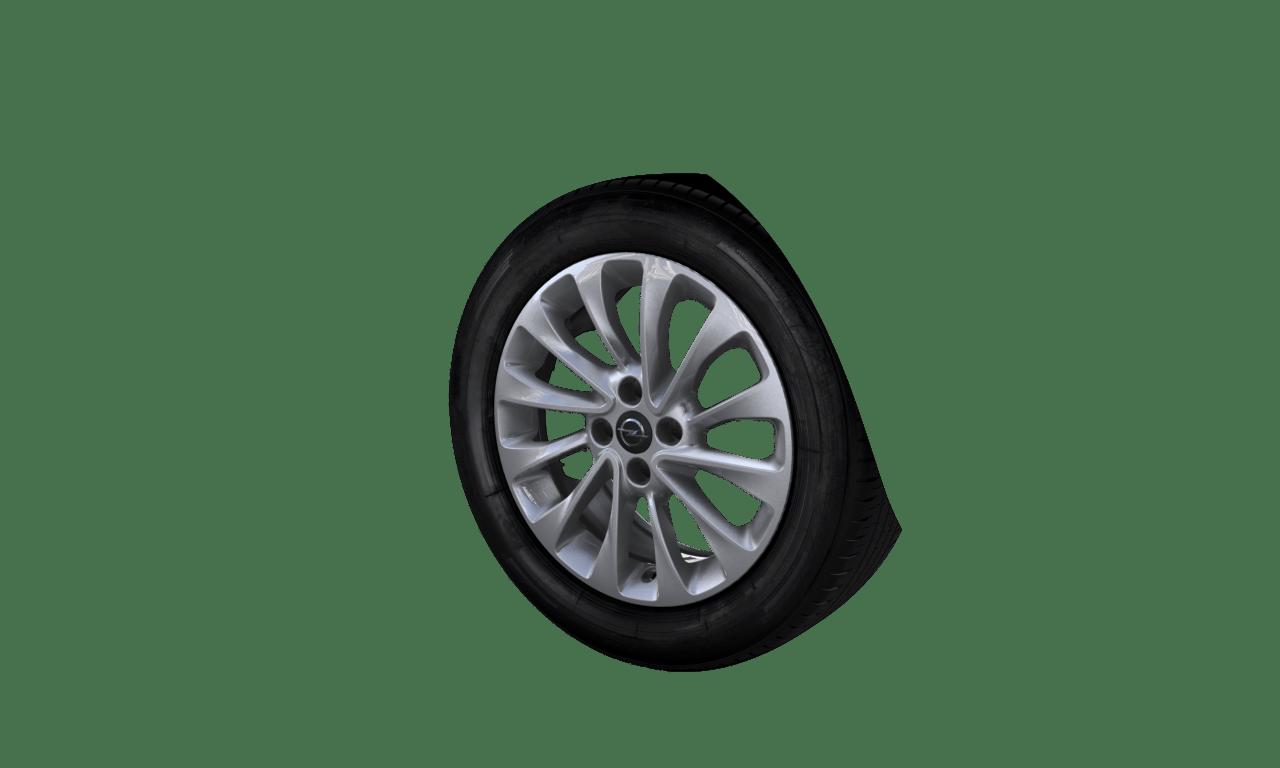 """6.5J x 16 """"12-Speichen-Rotor""""-Design, Silber"""