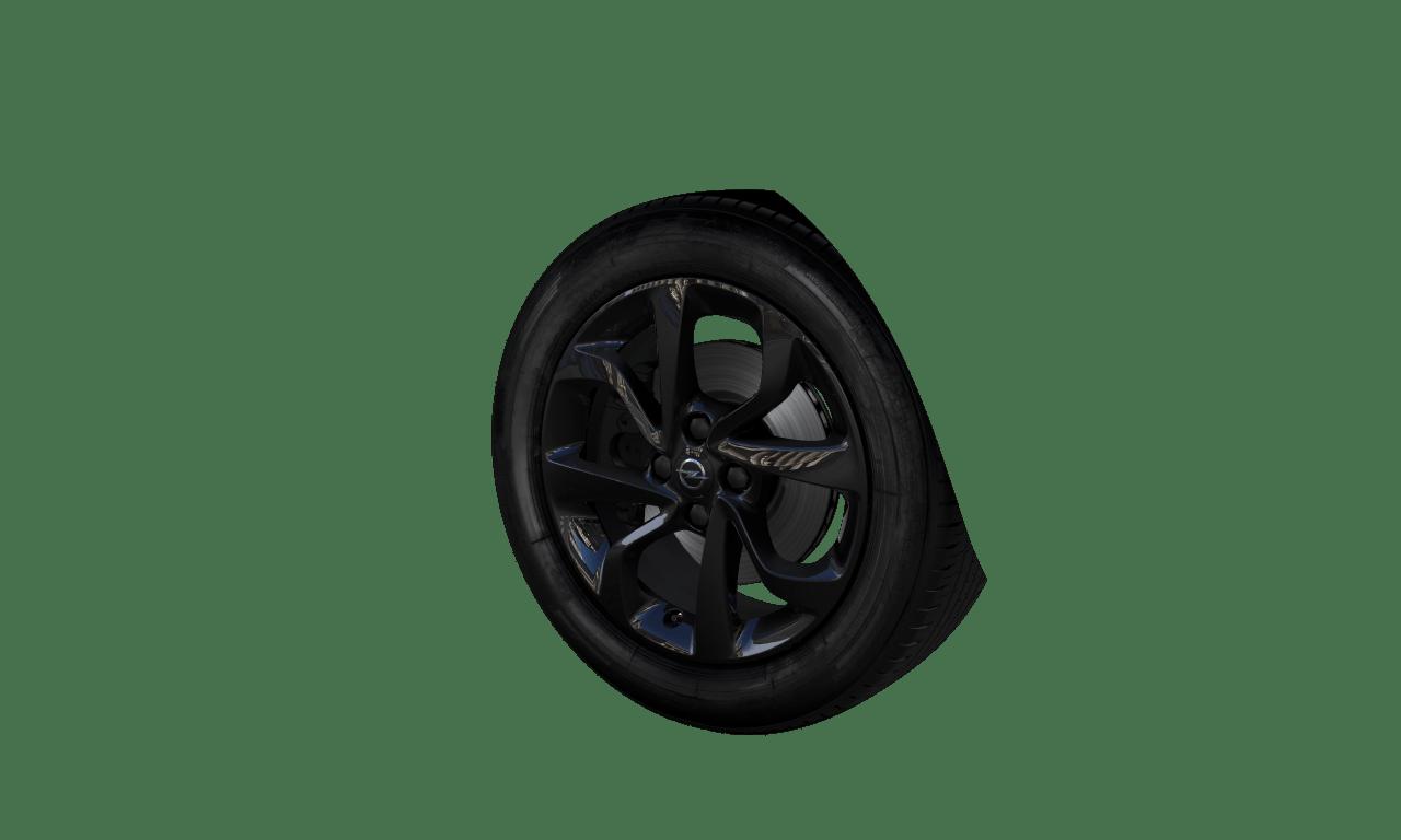 """6.5J x 16 """"4-Doppelspeichen""""-Design, Hochglanzschwarz"""