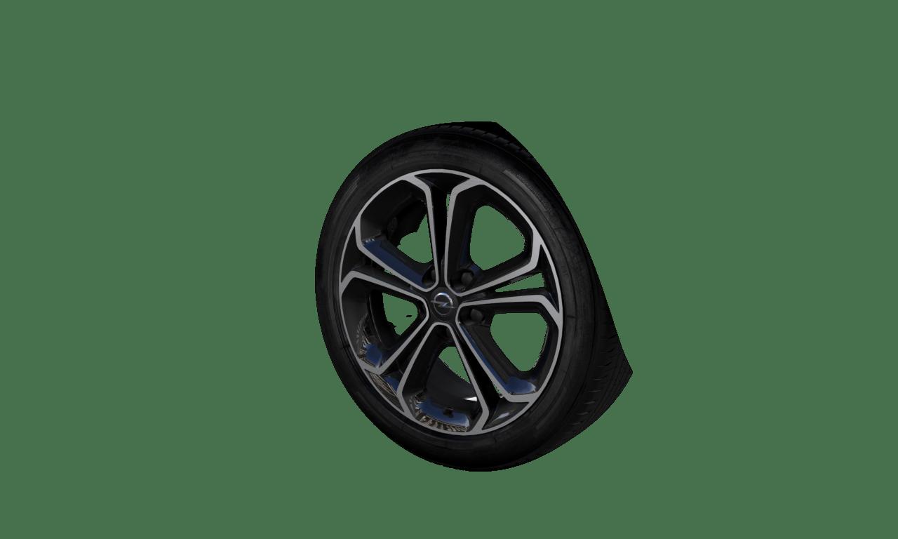 """7.0J x 17  """"5-Doppelspeichen""""-Design, BiColor Titan"""