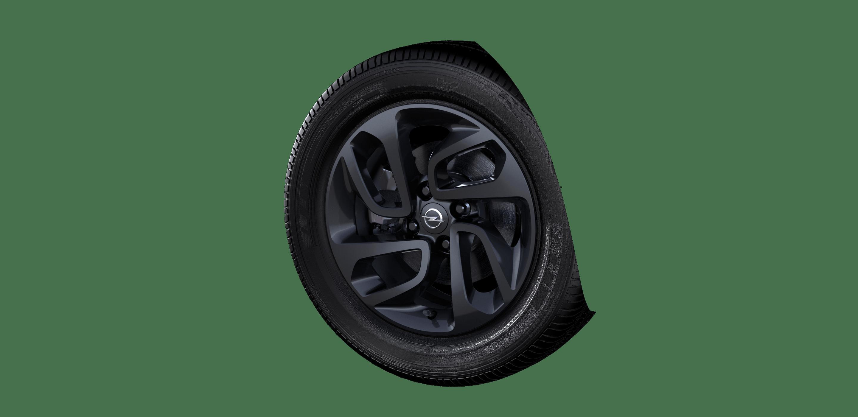 6.5 J x 16 Leichtmetallräder (4 Doppelspeichen) in Schwarz